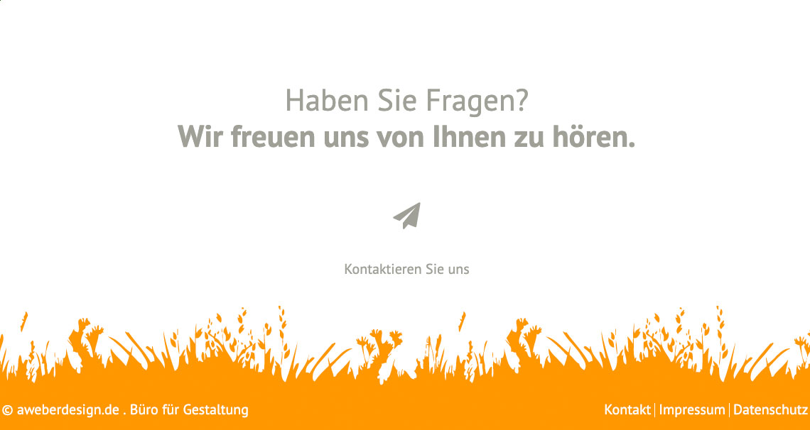 Bild des Footers der Website aweberdesign.de